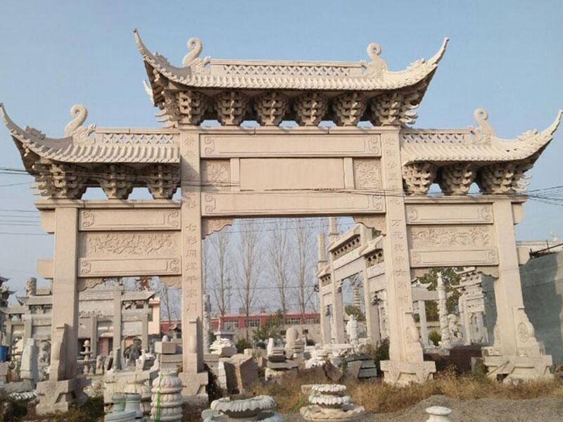 陵園墓地石牌坊制作時的注意事項