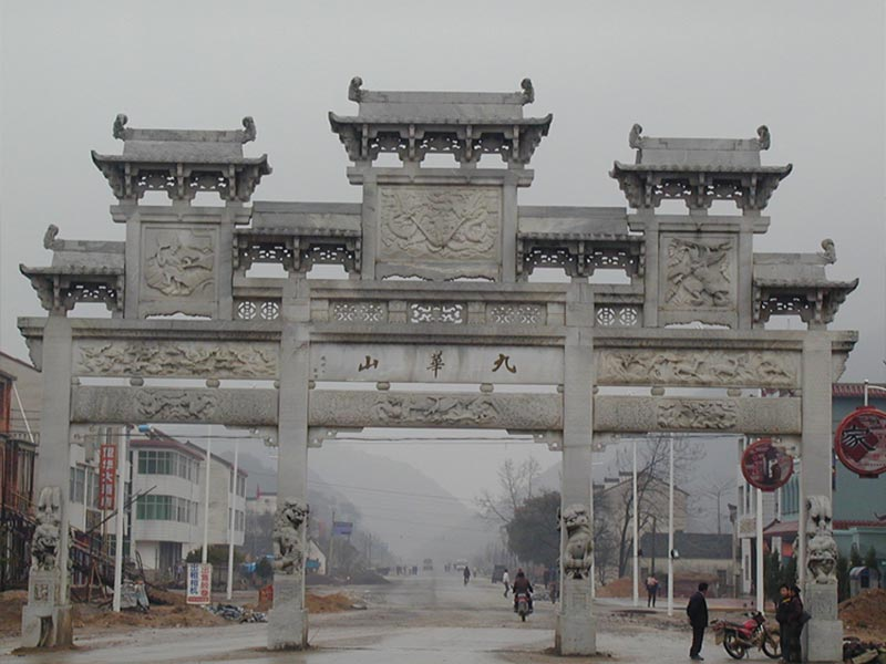 石牌坊中門的大小該如何進行設計